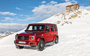 Картинка Мерседес бенц Гелентваген Красный 2019 G 350 d AMG Line Worldwide Авто