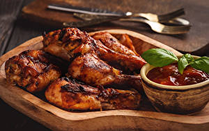 Обои Курица запеченная Кетчуп Еда