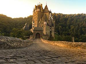 Картинка Германия Замок Дороги Burg Eltz