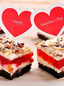 Картинки День святого Валентина Сладости Пирожное Сердце Английский