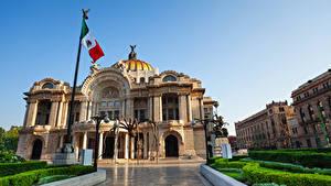 Обои Мексика Дома Дворца Флага Mexico
