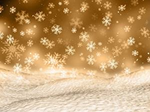 Фото Рождество Текстура Снежинки
