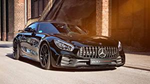 Обои Mercedes-Benz Черные Металлик 2018-19 Edo Competition AMG GT R Машины