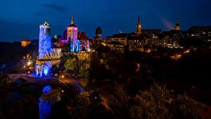 Фотографии Германия Здания Ночные Bautzen Города