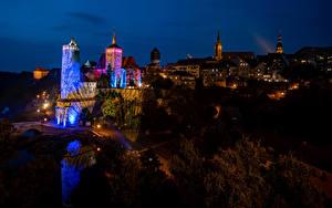 Фотографии Германия Здания Ночные Bautzen