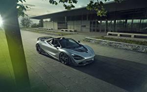 Фотографии McLaren Серый Родстер spider Novitec 720S