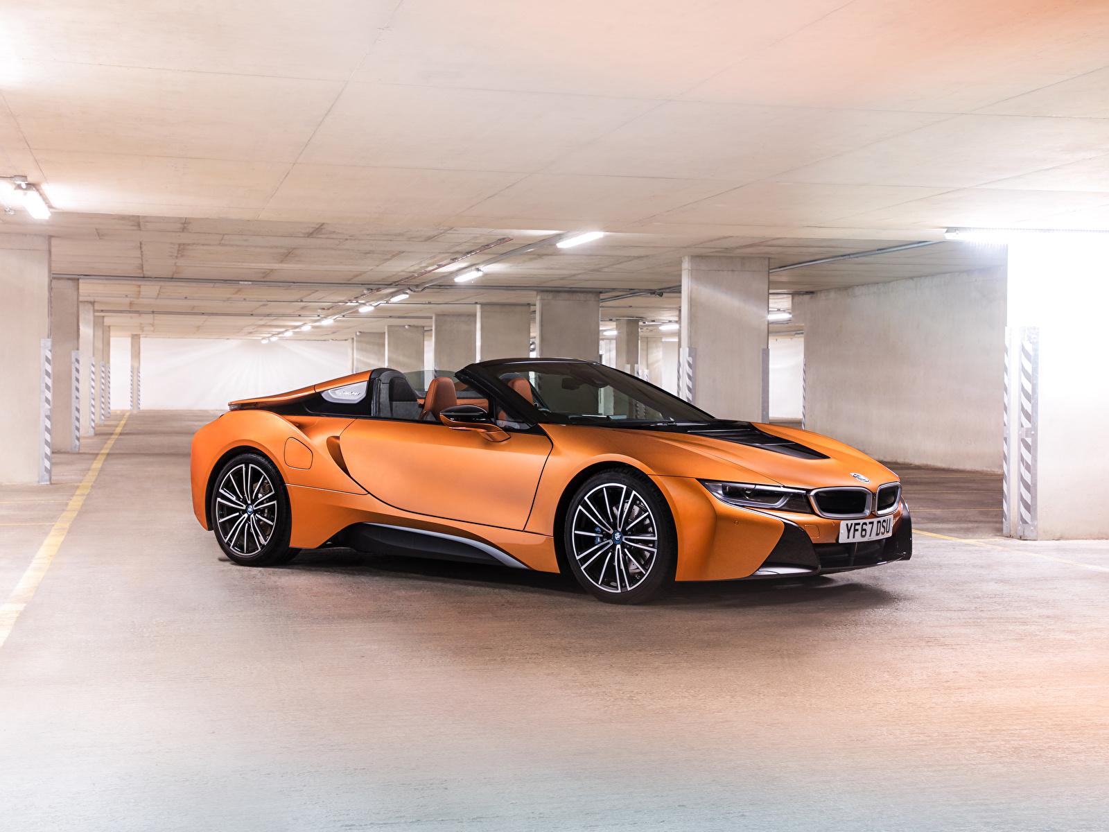 Фото BMW 2018 i8 Roadster Родстер Оранжевый Авто 1600x1200 БМВ оранжевых оранжевые оранжевая Машины Автомобили