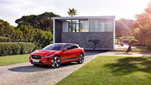 Обои Ягуар Красный Металлик 2018 I-Pace EV400 AWD HSE Worldwide Авто