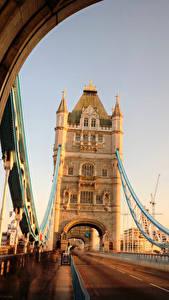 Картинки Мосты Дороги Англия Лондон Tower Bridge Города