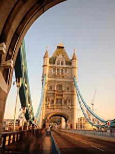 Картинки Мосты Дороги Англия Лондон Tower Bridge