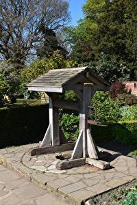 Фото Англия Парк Лондоне Колодец Кусты Streatham Common Природа