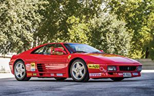 Картинки Феррари Стайлинг Красный Металлик 1993 348 Challenge Pininfarina