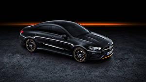 Фотография Мерседес бенц Черный 2019 CLA 250 AMG Line Edition Orange Art Worldwide