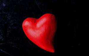 Фотографии День всех влюблённых Черный фон Сердечко Красные