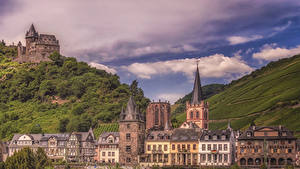 Фотографии Германия Здания Замки Бахарах Города