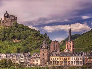 Фотографии Германия Здания Замки Бахарах