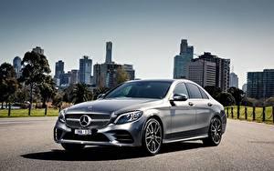 Фото Mercedes-Benz Серебристый AMG C-class W205