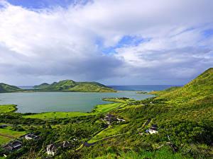 Картинки Тропический Дома Заливы Холм Christophe Harbour Saint Kitts Caribbean