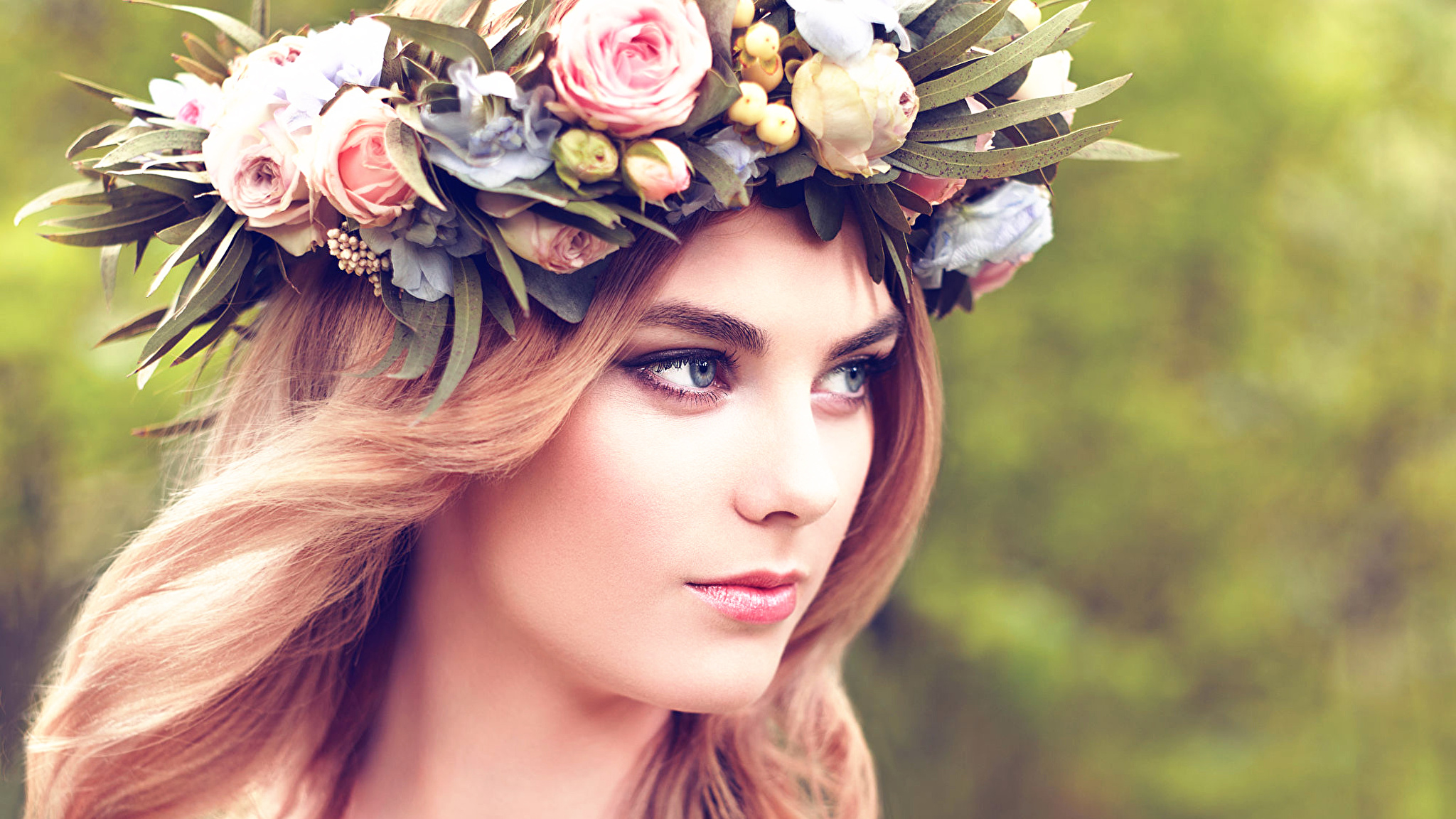 девушка венок цветы без регистрации
