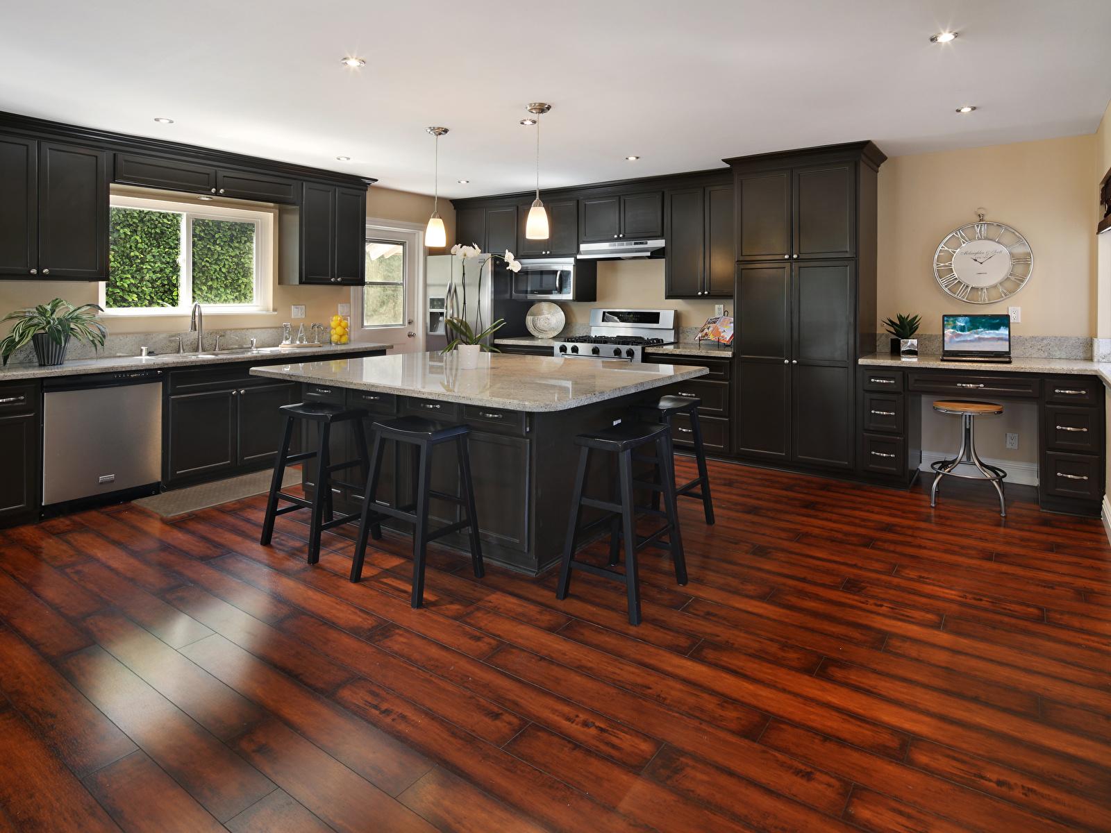 Картинки Кухня Интерьер стола Стулья Дизайн 1600x1200 кухни Стол стул столы дизайна