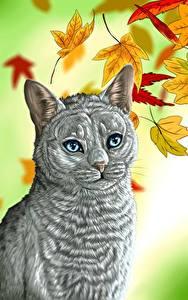 Картинка Кот Рисованные Животные