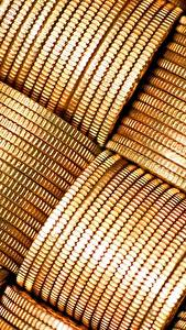 Обои Монеты Деньги Крупным планом Текстура