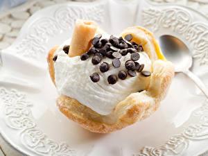 Фотографии Сладости Мороженое Шоколад Выпечка Пища