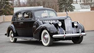 Картинки Винтаж Черный Металлик 1940 Packard 180 Custom Super Eight Formal Sedan автомобиль
