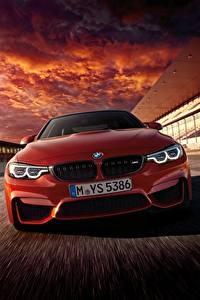 Картинки BMW Спереди Красные Едущий Купе F82