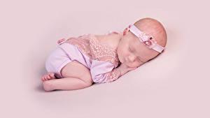 Картинки Цветной фон Младенца Сон