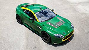 Картинки Aston Martin Металлик Зеленая 2010-19 V8 Vantage GT4 машина