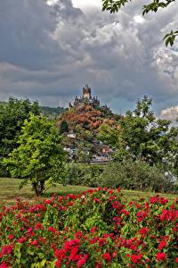 Картинка Германия Кохем Здания Замки