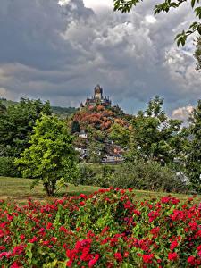 Картинка Германия Кохем Дома Замок город