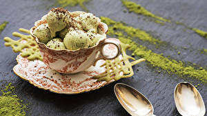 Фотографии Сладости Мороженое Шарики Чашке