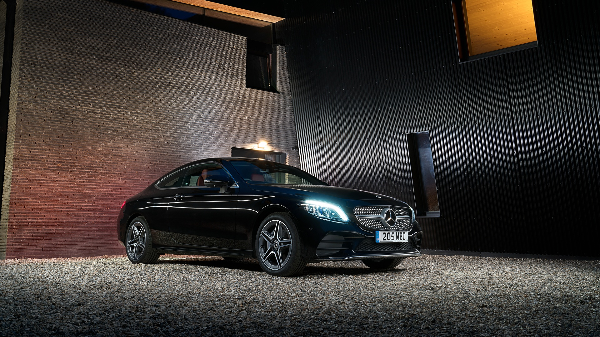Фотография Mercedes-Benz 2018 C 220 d Coupe AMG Line Черный машины Металлик 1920x1080 Мерседес бенц черных черные черная авто машина автомобиль Автомобили