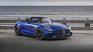 Обои Mercedes-Benz Синих Родстер 2020 GT C Roadster