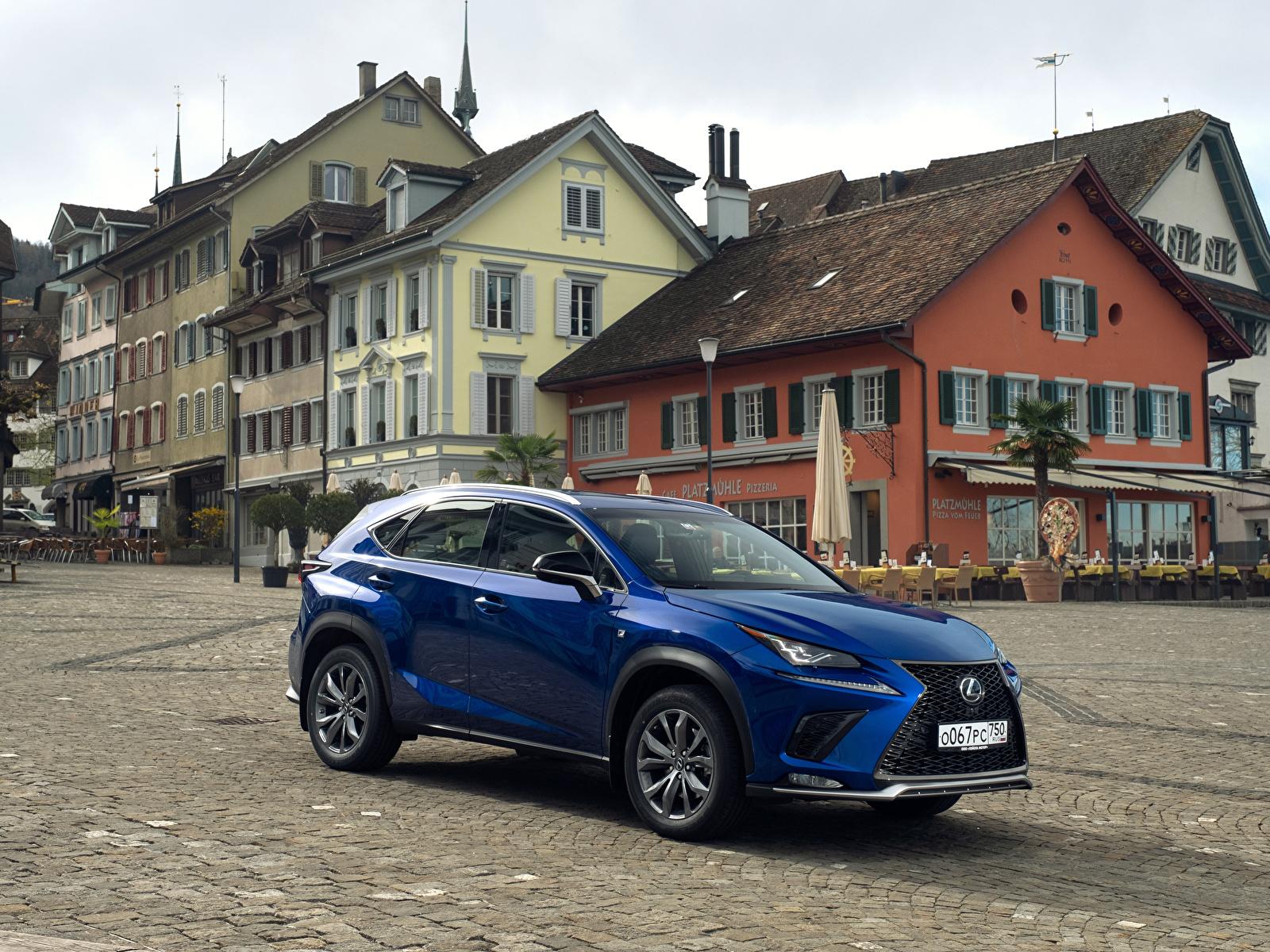 Картинка Лексус 2017-18 NX 300 F SPORT Worldwide синяя Авто Металлик 1600x1200 Lexus синих синие Синий Машины Автомобили