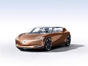 Обои для рабочего стола Рено Белом фоне Коричневые Металлик Symbioz 2017 авто