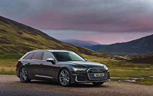 Обои Audi Металлик Универсал 2019 S6 Avant TDI автомобиль