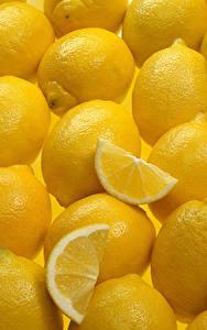 Картинка Текстура Лимоны Много Желтый