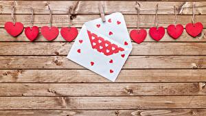 Фотографии День святого Валентина Доски Стенка Сердце