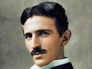 Картинка Мужчина Рисованные Красивый Nikola Tesla Знаменитости