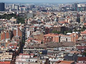 Фотографии Испания Дома Барселона Мегаполис город