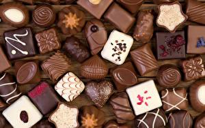 Фото Сладкая еда Конфеты Шоколад