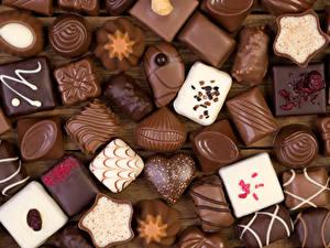 Фото Сладкая еда Конфеты Шоколад Пища