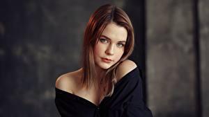 Обои Милые Красивые Шатенки Взгляд Taya, Evgeniy Bulatov Девушки
