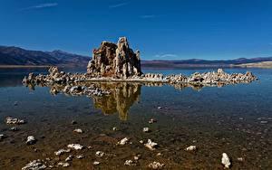 Картинки Озеро США Калифорнии Mono Lake Природа