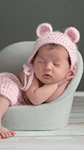 Картинка Грудной ребёнок Шапки Спящий Дети