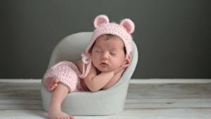 Картинка Грудной ребёнок Шапки Спящий