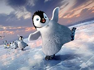 Картинка Пингвины Делай ноги Льда